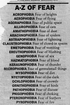 Lots of scary, not scary we suffer from.