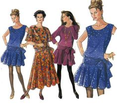 1980s dropwaist dress pattern - Google Search