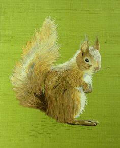 Silk Shaded Squirrel by Marina Berts  I really want to learn how to do this!