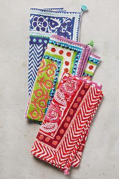 Caicos Napkin. set of 6. 2 of each color. $50