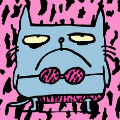 Catwad Pink by Jim Benton | DecalGirl