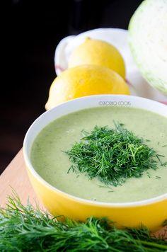 skoraq cooks: Young cabbage soup  http://skoraczek.blogspot.com/2014/06/zupa-krem-z-modej-kapusty-young-cabbage.html