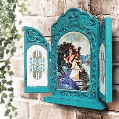 These vintage items are hand crafted, hand-painted and one of a kind treasures, so they may have slight imperfections that add to the beauty and charm of these handmade creations. #architectural salvage #Vintage Wall Décor #ethnicdecor #Religious Décor #Woodframe #shabbychic #shabbychicdecor #interiordecor #Wood Art #Wood Carving