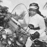 "You had to be fearless, to serve your country as an Army motorcycle dispatch rider.  It took even more than bravery, to solo across the country on a motorcycle.  To really up the risk factor, do it as a black teen-aged female – in the 1930s, when racial prejudice was still the unofficial attitude of the nation!  Add up all that, and you've described Bessie Stringfield. ""The Motorcycle Queen of Miami"" was ""BB"" to her friends, and a barrier-buster to her gender and her generation."