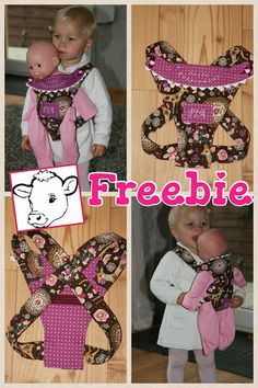 Kids Clothing SticKUHlinchen: Freebie - Puppentrage Kids ClothingSource : sticKUHlinchen: Freebie - Puppentrage by Urmeliiii Baby Doll Clothes, Doll Clothes Patterns, Doll Patterns, Clothing Patterns, Diy Clothing, Sewing Patterns Free, Free Sewing, Pattern Sewing, Free Pattern