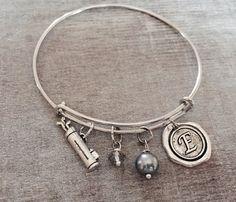 Silver Plated Charm Bracelet Golf bracelet Golf Jewelry by SAjolie