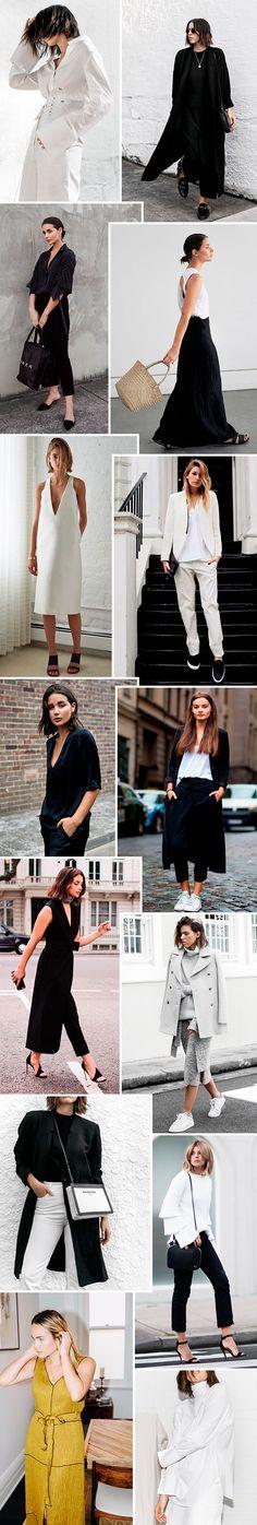 Inspiração de looks minimalistas.