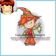 C.C. Designs Rubber Stamp - Roberto's Rascals Scarecrow Henry