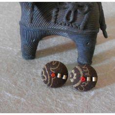 cloth button earrings are cute, fun n elegant..:-)