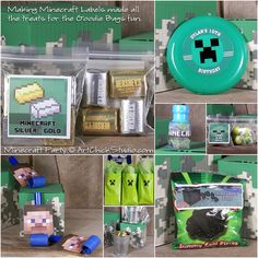 Minecraft Birthday Party Goodie Bags, blowouts etc. Birthday Party Goodie Bags, Minecraft Birthday Party, Boy Birthday Parties, Birthday Fun, Birthday Ideas, Party Favors, Kid Parties, Birthday Stuff, Party Bags