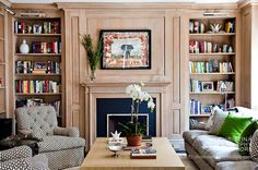 Christina Murphy via drd: dayka robinson designs Living Room Inspiration, Interior Inspiration, Bookshelves Built In, Bookcases, Built Ins, Book Shelves, Display Shelves, Shelving, Duplex Design