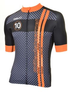 YOUR OWN cycling jersey by AGU // Customized Cycling Apparel, designed for the Stilladsteametit (Denmark). Cycling Tops, Cycling Wear, Cycling Jerseys, Cycling Shorts, Custom Bowling Shirts, Mtb Clothing, Bowling Outfit, Bike Wear, Sports Uniforms