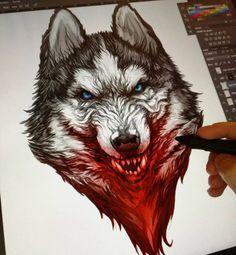 New Wallpaper Desenho Lobo Ideas Fenrir Tattoo, Werewolf Tattoo, Werewolf Art, Wolf Tattoos Men, Viking Tattoos, Animal Tattoos, Tattoo Sketches, Tattoo Drawings, Life Tattoos