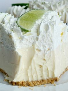 No Bake Key Lime Pie | Key Lime Pie | No Bake Desserts | Quick & easy Key Lime Pie is so easy to make and no baking required! A creamy, smooth, and sweet key lime cheesecake filling inside a prepared graham cracker crust. Garnish with key lime whipped cream for the best no bake dessert. #recipeoftheday #nobake #nobakedesserts #easydesserts #dessertideas #easterrecipes #keylimepie Key Lime Desserts, Lemon Desserts, Köstliche Desserts, Dessert Recipes, Health Desserts, Key Lime No Bake, Easy Key Lime Pie Recipe No Bake, Key Lime Pie With Cream Cheese Recipe, Creamy Key Lime Pie Recipe
