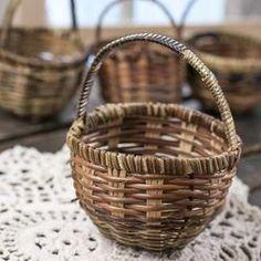 Fairy garden accessories - woven market basket - 2.49