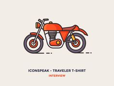Interview: ICONSPEAK – Traveler t-shirt designed by Justas Galaburda. Connect with them on Dribbble; the global community for designers and creative professionals. Material Design, Line Design, Icon Design, Web Design, Flat Design, Graphic Design, Bike Icon, Motorcycle Travel, Motorcycle Art