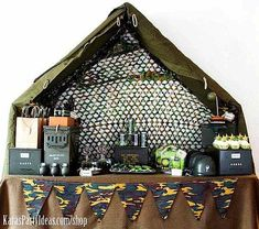 Military Party/Baby Shower: ammo cans, etc as table decor?