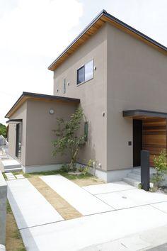 House Paint Exterior, Exterior Paint Colors, Paint Colors For Home, House Colors, Home Building Design, Building A House, House Design, Japan Modern House, Porche