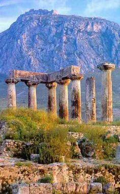 The Temple of Apollo, Ancient Corinth, Greece