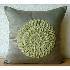 Green Dahlia - Throw Pillow Covers - Suede & Felt Pillow Cover :     Price: $20.75    .Customer Discussions and Customer Reviews.Check Price >> http://gethotprice.com/appin/?t=B0088IT8IQ