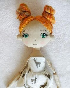 Pumpkin Handmade dollcloth doll pixie doll rag doll