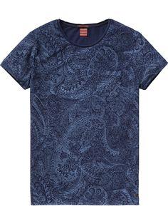 Camiseta índigo | Camiseta de manga corta | Ropa para hombre en Scotch & Soda