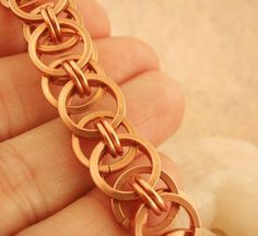 This listing is for EVERYTHING you need to make this Unique bracelet! I have included ALL of my expertly made Non Tarnish Copper jump rings plus my wonderfully colored jump rings in just the right quantities (plus spares of everything-so dont worry if you mess up a couple) and even a
