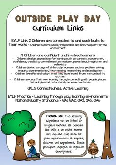 This fantastic resource contains many Nature Play documents including posters of the benefits of barefoot play the benefits of nature play curriculum links learning story templates with links to theorists 22 task cards and an Outside Play Day certificate Play Based Learning, Learning Through Play, Early Learning, Early Education, Early Childhood Education, Eylf Learning Outcomes, Learning Stories Examples, Emergent Curriculum, Family Day Care