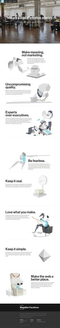 digital creative agency website #responsive
