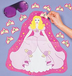 first birthday princess free printables | crown the princess includes princess background 14x16 blindfold and 12 ...