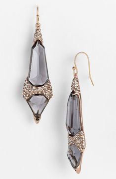 Earrings | Alexis Bittar 'Miss Havisham'.   Glass/Swarovski crystal/rose-goldtone plate/14k gold-filled ear wire.