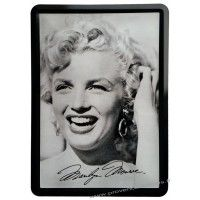 Plaque métal Marilyn Monroe portrait carte postale rétro vintage collection