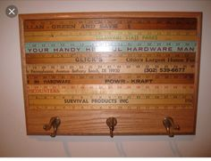 Diy Wood Projects, Wood Crafts, Diy Crafts, Repurposed Items, Repurposed Furniture, Woodworking Plans, Woodworking Projects, Ruler Crafts, Yard Sticks