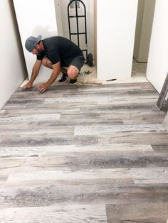 To Install Luxury Vinyl Plank Flooring - Bower Power.How To Install Luxury Vinyl Plank Flooring - Bower Power. Basement Flooring, Bedroom Flooring, Kitchen Flooring, Farmhouse Flooring, Flooring For Bathrooms, Living Room Vinyl Flooring, Wood Tile Kitchen, Vinyl Flooring Bathroom, Vinyl Tiles