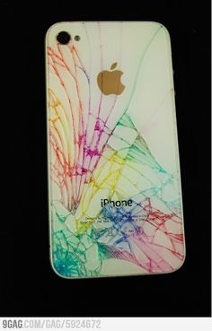 If I ever crack my iphone I'm so doing this! (Not that I want to crack my phone) (: