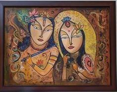 Size: 24x18 In Medium: Acrylic Color Surface: Canvas Artwork: Original Krishna Painting, Acrylic Colors, Canvas Artwork, Princess Zelda, Artist, Handmade, Surface, Paintings, Fictional Characters