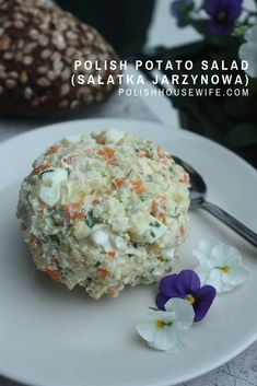 Try this authentic Polish Potato Salad (Salatka Jazynowa), it's will become your favorite potato salad! Try this authentic Polish Potato Salad (Salatka Jazynowa), it's will become your favorite potato salad! Greek Recipes, Real Food Recipes, Cooking Recipes, Sauerkraut, Polish Recipes, Polish Food, Cookout Side Dishes, Canned Frosting, French Desserts