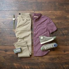Shirt: Nifty Genius // Pants: Revtown // Sneakers: Colchester Rubber Co. Mens Casual Dress Outfits, Best Smart Casual Outfits, Stylish Mens Outfits, Classy Outfits, Men Dress, Fashion Outfits, Fashion Tips, 17 Kpop, Look Man