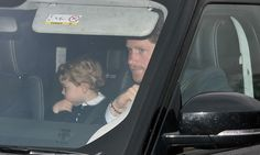 Prince George, Kate and Prince Harry arrive at the Buckingham Palace Christmas party DECEMBER 16, 2015