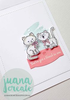 "Juana Ambida | Pretty Kitty - ""You've got a friend in me"". Get Well Soon Theme.  #GDP039,  #frommetoyouwhenyourefeelingblu, #Stampinup,…"