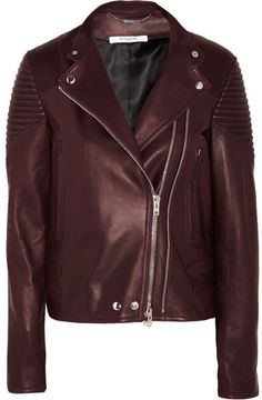Givenchy - Biker Jacket In Merlot Leather