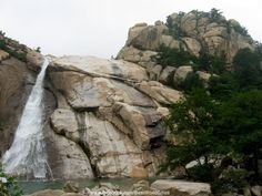 Rock Waterfall, Qingdao, Mount Rushmore, Asia, Mountains, World, City, Gallery, Nature