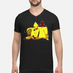 Deadpool and Pikachu shirt Deadpool Pikachu, Baby Pokemon, Heart Logo, Heart Shirt, Great T Shirts, Mens Tees, Trendy Outfits, Tee Shirts, Unisex