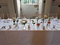 Wedding Top Table Flowers, Summer Wedding, Beautiful Flowers, Table Settings, Bloom, Table Decorations, Home Decor, Decoration Home, Pretty Flowers