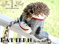 Sock Monkey Crochet PDF Pattern  Sorry future child of mine, but you will have this hat!