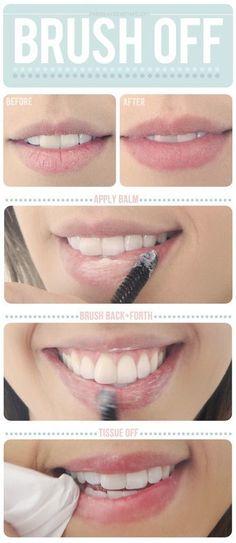brush lips