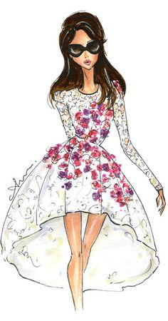 Fashion Illustration Print, Giambattista Valli by Anum Tariq