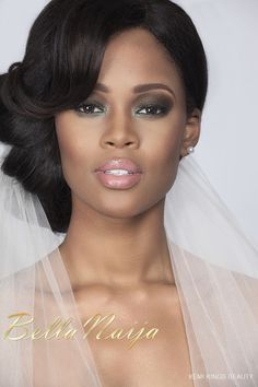 Beautiful bridal hair & makeup. Perfect lip color for the special day!