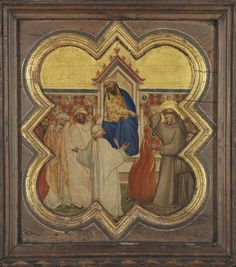 Saint Francis offers to walk through fire, before the Sultan // 1350-1374 // Taddeo Gaddi // Alte Pinakothek