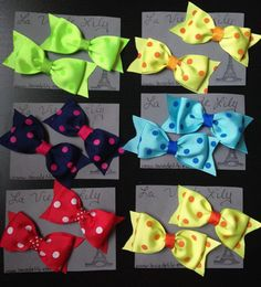Hey, I found this really awesome Etsy listing at https://www.etsy.com/listing/239727993/hairbow-tie-bow-with-tails-set-of-2